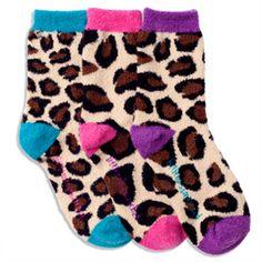 Leopard Fuzzy Ankle Socks Warm and Cozy courtesy of LittleMissMatched