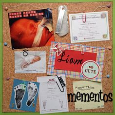 Hospital Mementos - Scrapbook.com