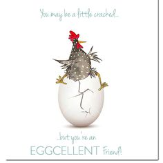 Egg-cellent Friend Greeting Card from Sarah Boddy.