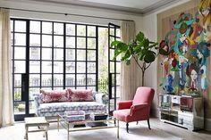 Townhouse, Manhattan. Designer: Poonam Khanna. Architect: Basil Walter