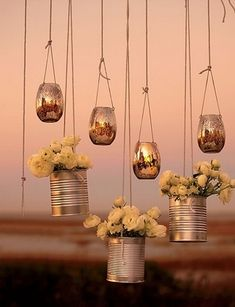 21 DIY Outdoor & Hanging Decor Ideas | Confetti Daydreams - Suspend these DIY Hanging Flower Votives to decorate your wedding altar or reception tent ♥ #DIY #OutdoorDecor #HangingDecor  ♥ ♥ ♥ LIKE US ON FB: www.facebook.com/confettidaydreams ♥ ♥ ♥