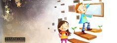 Hình ảnh bìa Facebook hoạt hình anime vô cùng dễ thương