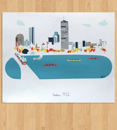 Boston Art Print  | Bring an excellent view of Boston to your abode with this art ... | Posters