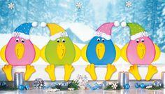 Winter-Fensterbilder basteln: Lustige Schnee-Vögel - Familie.de