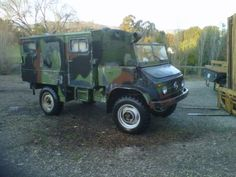 1964 Unimog 404 Converted Radio Truck, This former German Military Truck still has it's original Mercedes 6 cylinder gas engine, 6 sp. tranny, new OEM rubberized canvas top and door skins, street legal (Most importantly).  The Bedbox has been carpeted and insulated for camping... I think this might take the place of the Daddy Car I've been looking for.  Forget a Hummer, I'll take a surplus Military Truck any day of the week...  Currently in SLO, CA going for $7600