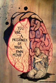 prisoner  When I saw this I found it uncomfortable to look at, irritating to read and then I thought - it is making me think! So, then I thought, the perfect place is here.