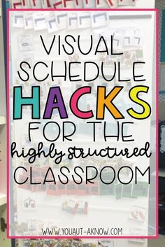 Visual schedules are EVERYTHING in the Autism classroom. Our students thrive on them, but us teachers need some serious organizational skills for all those little icons floating around the classroom. Check out how I hack visual schedules in my Special Education classroom.