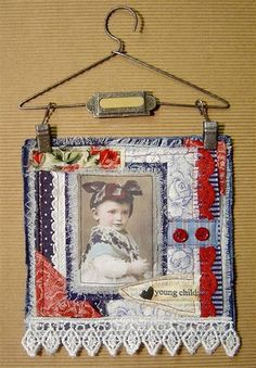 fabric collage portrait by yitte