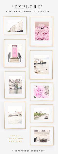 'EXPLORE' COLLECTION / Travel / Photography / Paris / London / Portobello Road / Pink Door / Chanel / 31 Rue Cambon / Chic / Fashion / Art / Wanderlust @ www.misspoppydesignshop.com
