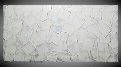 Altri miei quadri astratti può essere trovato qui: http://www.etsy.com/shop/acrylkreativ?section_id=10760663  My Etsy Shop: http://www.etsy.com/shop/acrylkreativ  Titelo: playing squares  Dimensioni: 1 x 120 cm x 60 cm x 1,8 cm  Colori: Bianco, Argento.  I bordi sono dipinte di bianco.  Data / soggetto: data, titolo, numero di lavoro sul retro.  Tecnica: mano originale dipinto pittura acrilica.  ************************************************...