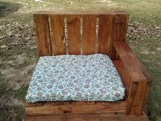 Pallet furniture - outdoor. Used a cheap shower curtain and an old mattress topper for cushion.