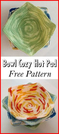 Bowl Cozy Hot Pad – Free Pattern Bowl Cozy Hot Pad – Free Pattern,Christmas – DIY giving amysastitchatatim… Is the actual link. There are images of the best DIY designs in the world. Crochet Bowl, Knit Or Crochet, Crochet Gifts, Free Crochet, Things To Crochet, Easy Crochet, Yarn Projects, Crochet Projects, Knitting Patterns