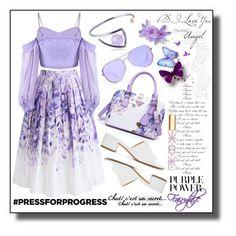 Purple Power by igiulia on Polyvore featuring Chicwish, Maryam Nassir Zadeh, URiBE, Michael Kors, Tory Burch, purplepower, internationalwomensday and pressforprogress