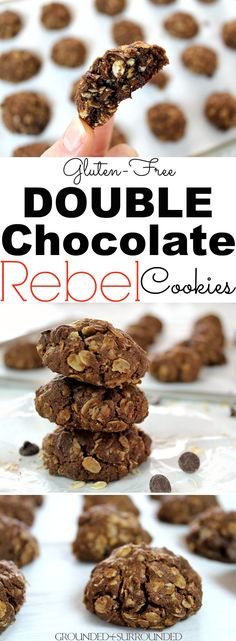 These chocolate cookies are my husband's favorite cookie recipe! This family recipe is easy to make, soft & chewy in the center, and absolutely delicious. Gluten Free Cookie Recipes, Gluten Free Cookies, Gluten Free Baking, Gluten Free Desserts, Healthy Desserts, Paleo Recipes, Free Recipes, Baking Recipes, Easy Chocolate Chip Cookies