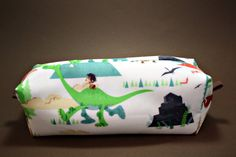 Boxy Makeup Bag - The Good Dinosaur, Spot and Arlo Zipper - Pencil Pouch for $10 +s&h by JustPeachyHandmade on Etsy