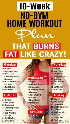2 week workout plan at home to lose belly fat You need a gym to get fit! Every workout in this 2 week workout plan, from strength training to cardio, can be done at home. Get ready to dedicate two weeks to yourself as you jump-start your fi 2 Week Workout Plan, Best Workout Routine, Weekly Workout Plans, At Home Workout Plan, At Home Workouts For Women, Beginner Workout At Home, Morning Workout Routine, Workout Ideas, Fitness Plan For Women