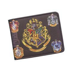 Harry Potter Wallets With Small Zipper Pocket Men Wallet Coin Bag Credit Card Holder Hogwarts Badge Designer Wallet For Student