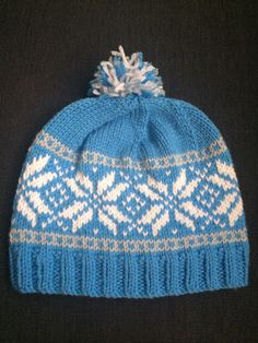 Frozen Inspired Norwegian Star Hat by on Ravelry Beanie Knitting Patterns Free, Double Knitting Patterns, Fair Isle Knitting Patterns, Loom Knitting, Baby Knitting, Yarn Projects, Knitting Projects, Knit Or Crochet, Crochet Hats
