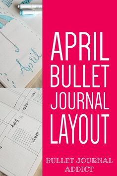 Bullet Journal April Showers Theme - Umbrella and Rain Doodles For April Bullet Journal Theme - New Weekly Spread Layout