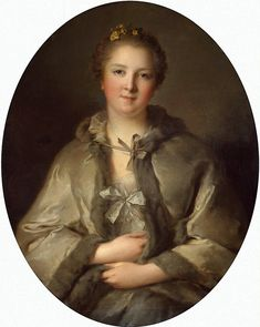 Portrait of a Woman in Grey, presumed to be Louise-Adelaide d'Orleans, daughter of the Regent, early 18th century by Jean-Marc Nattier (Hermitage)