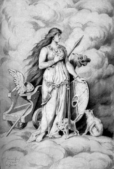 Norse mythology: Freya is a goddess of love and fertility, and the most beautiful and propitious of the goddesses. She is the patron goddess of crops and birth, the symbol of sensuality and was called upon in matters of love. Norse Goddess Of Love, Moon Goddess, Freya, Viking Culture, Caran D'ache, Old Norse, Norse Vikings, Asatru, Sacred Feminine