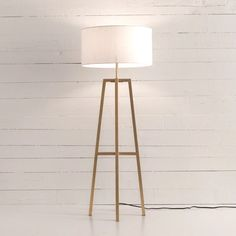 All Lighting – Page 5 – Elm & Iron Contemporary Floor Lamps, Modern Floor Lamps, Modern Lighting, White Lamp Shade, Brass Floor Lamp, Black Lamps, Country Furniture, Tripod Lamp, Mid-century Modern