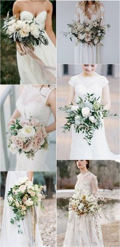 elegant neutral wedding bouquets #weddingbouquet #weddingflowers #weddingideas #weddinginspiration