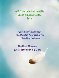 Deal With Anxiety, Green Ribbon, Mental Health, Mindfulness, Consciousness