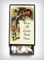 I may just go ahead and buy this to keep my meds in... We're All Mad Slide Box with Mints at PLASTICLAND