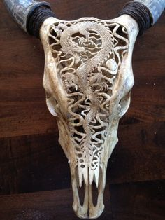 Hand carved Skulls by s2k4