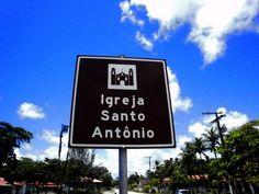 Placa sinalização de igreja