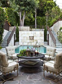 Tudor revival . backyard