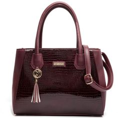 Dark red croco bag
