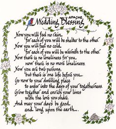 native american wedding blessing | apache wedding blessing native american apache wedding love marriage ...