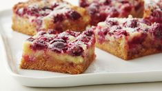 baked in a sturdy pan, Keep a box of Betty Crocker™ Super Moist™ yellow cake mix—the secret shortcut ingredient in this recipe—on hand Cranberry Bars, Cranberry Recipes, Holiday Recipes, Thanksgiving Recipes, Cranberry Dessert, Cranberry Cheesecake, Chocolate Cheesecake, Cheesecake Bars, Thanksgiving Table