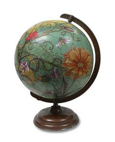 Ceres Botanical Vintage Globe Art by wendygold on Etsy Old Globe, Globe Art, Plywood Furniture, Recycled Furniture, Refinished Furniture, Furniture Ideas, Kitsch, Floor Globe, Painted Globe