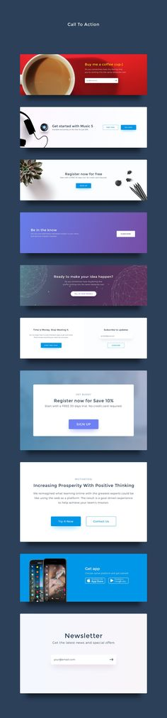 UI Kits for Landing Pages by Gris Fox on @creativemarket