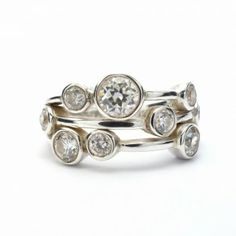 April Traditional Birthstone - Diamond (you could substitute with CZ crystal) and Sapphire Modern Birthstone - Diamond (CZ Jewelry) Irish Jewelry, Silver Jewelry, Silver Rings, Birthstone Jewelry, Quartz Crystal, Diamond Rings, Birthstones, Sapphire, Cufflinks