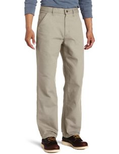 Carhartt Mens Washed Duck Work Dungaree Utility Pant B11 ** Click on the image for additional details.