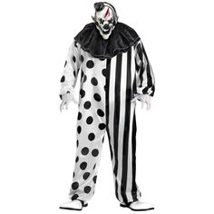 The circus is in town and it's killer, literally! This Killer Clown costume is exactly why people are so afraid of clowns. Featuring a bleeding clown mask to put the terror over the edge. You got what