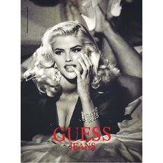 Anna Nicole Smith for Guess in the early 90s •