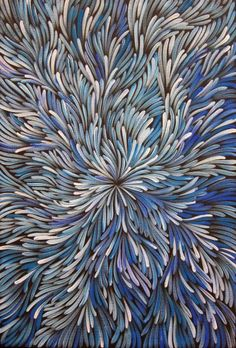 Jeannie Petyarre - Australian Indigenous artist - wonderful movement to her artworks