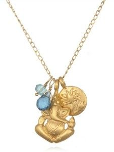 Blue Openings Charm Necklace by Satya Jewelry