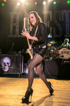 lzzy hale style ~ lzzy hale style - lzzy hale style outfits - lzzy hale style rocks - lzzy hale style girl crushes - lzzy hale style love her Lzzy Hale, Halestorm, Rocker Girl, Rocker Chick, Female Guitarist, Female Singers, Rock Roll, Female Rock Stars, Heavy Metal Girl