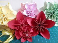 Buquê de origami + Flor de origami passo-a-passo - YouTube
