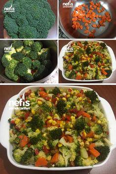 Nefis Brokoli Salatası (Bol Vitaminli) - Nefis Yemek Tarifleri - Famous Last Words Turkish Recipes, Ethnic Recipes, Cooking Recipes, Healthy Recipes, Broccoli Salad, Vitamins, Food And Drink, Pasta, Yummy Food