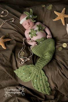 03 mons Crochet Baby Mermaid Costume Tail by CrochetbyBernadette, $44.00
