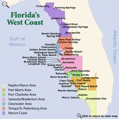 Map Of Florida Gulf Coast The State Of Florida Has Approximately - Florida coastal cities map