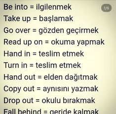Learn Turkish Language, Learn A New Language, Improve English, Learn English, Vocabulary Journal, Turkish Lessons, Grammar Tips, English Vocabulary, Foreign Languages