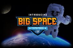 Big Space (Font) by nurfdesigns · Creative Fabrica Cool Fonts, New Fonts, Awesome Fonts, Typeface Font, Typography, Lettering, Sports Fonts, Sports Logo, Space Font